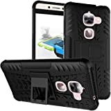 LeEco Le S3 Case, LeEco Le 2 Case, Skmy Shockproof Impact Protection Tough Rugged Dual Layer Protective Case Cover with Kickstand for LeTV LeEco Le 2 X 620/LeEco Le 2 Pro (Black)