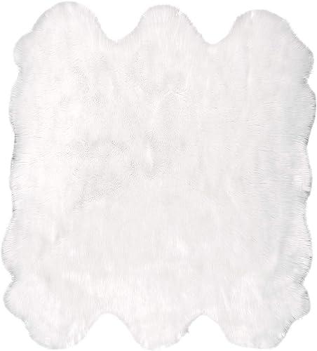 nuLOOM Fluffy Faux Sheepskin Shag Area Rug