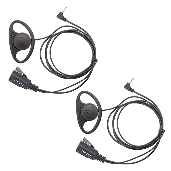 COODIO 2 x Motorola TLKR Radio Cuffia 1-Pin a Forma di D Microfono ... 7d648900bdb1