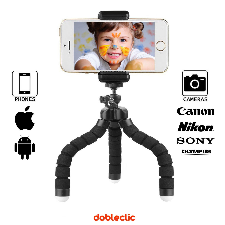 Trípode Flexible para teléfonos móviles y cámaras fotográficas con rosca universal