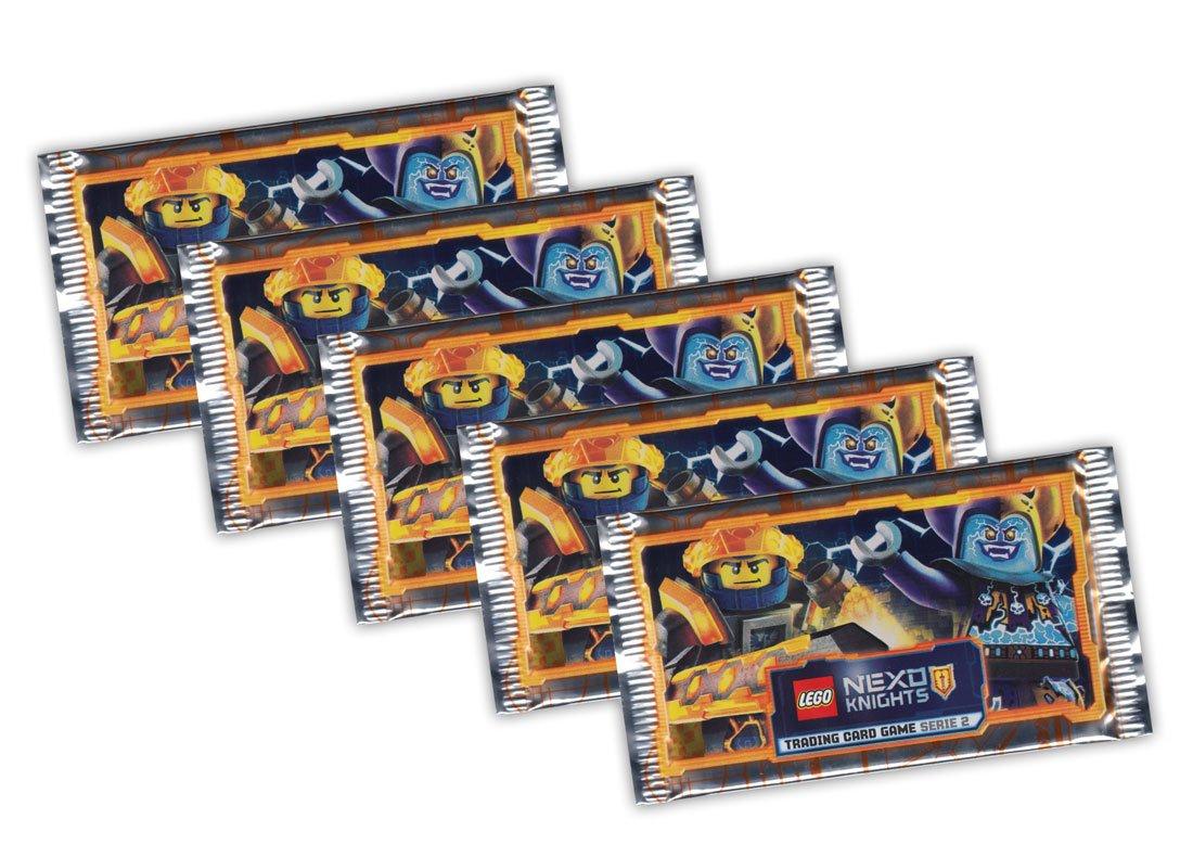 LEGO Nexo Knights Sammelkarten Deutsche Ausgabe 5 Booster Packungen 25 Karten Blue Ocean