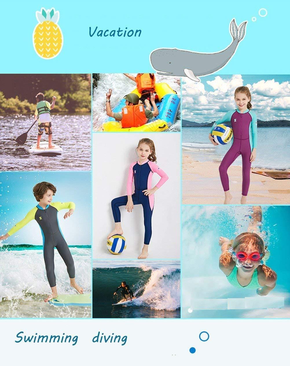 Traje de baño Completo de Manga Larga para niñas Dive & Sail, UPF 50 +, Azul, Small: Amazon.es: Deportes y aire libre