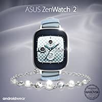 ASUS ZenWatch 2 Swarovski Special Edition 37mm Smart Watch with Quick Charge Battery, Swarovski Crystal Bracelet, 4GB Storage, 1.45-inch AMOLED TouchScreen, (International Version)
