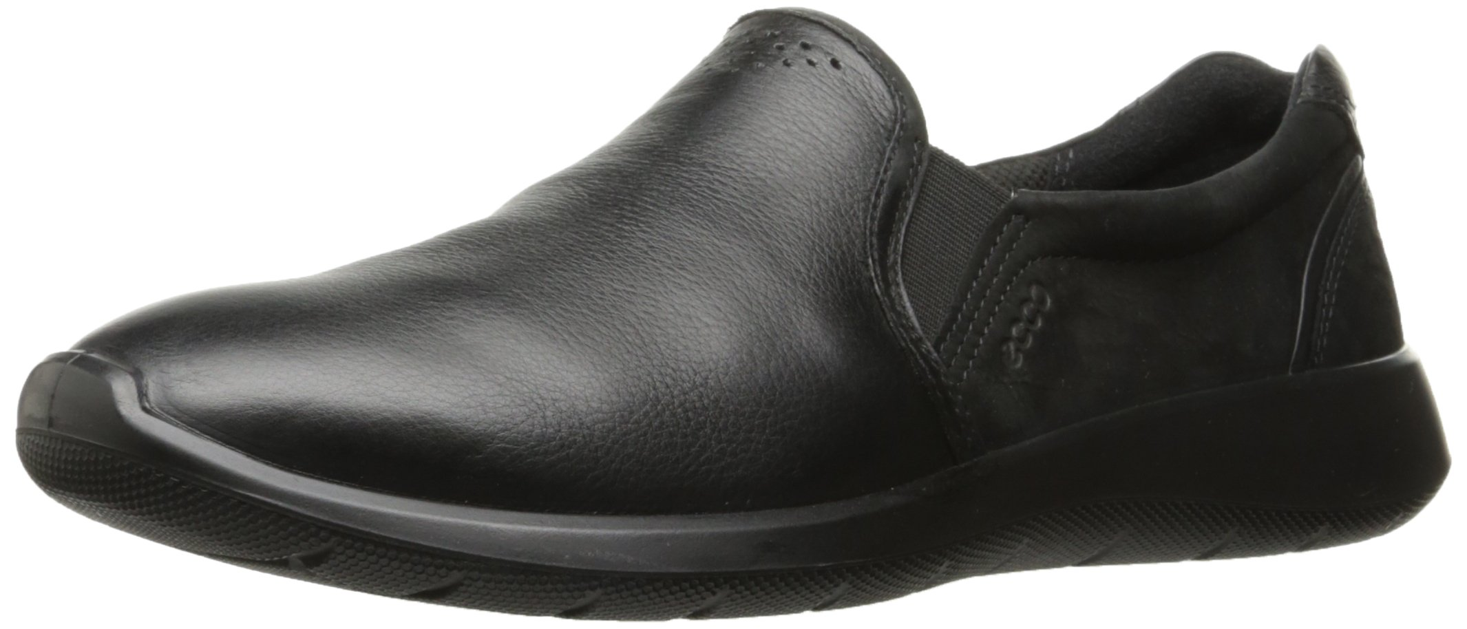 ECCO Women's Women's Soft 5 Slip On Fashion Sneaker, Black/Black, 39 EU/8-8.5 US