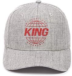 93198e861b3 King Apparel Men s Bethnal Curved Peak Snapback Cap O S Grey