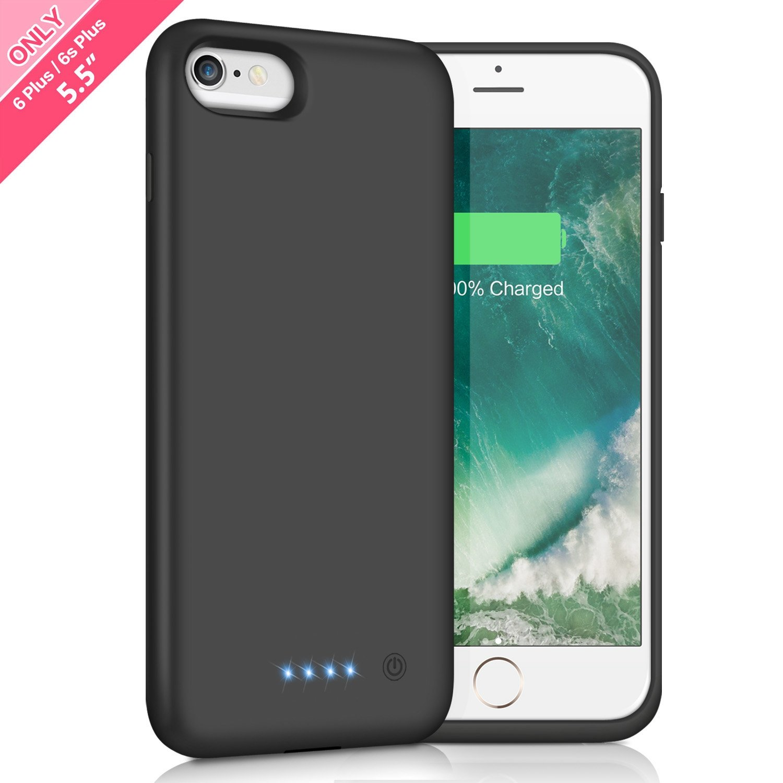 quality design 51f92 98d15 Battery Case for iPhone 6s Plus / 6 Plus 8500mAh,HETP Rechargeable External  Charging Case for iPhone 6 Plus 6s Plus Protective Battery Pack Apple ...