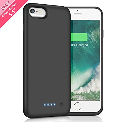 Battery Case for iPhone 6s Plus / 6 Plus 8500mAh,HETP Rechargeable External  Charging Case for iPhone 6 Plus 6s Plus Protective Battery Pack Apple