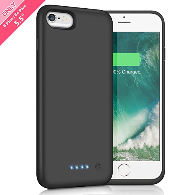 quality design f51eb 0f5a5 Battery Case for iPhone 6s Plus / 6 Plus 8500mAh,HETP Rechargeable External  Charging Case for iPhone 6 Plus 6s Plus Protective Battery Pack Apple ...