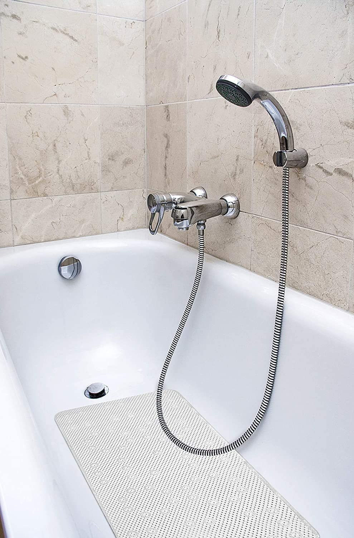 50x70cm White Bath Mat-take a shower