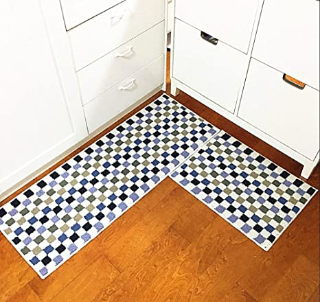 Amazon.com: Eanpet Kitchen Rugs Sets 2 Piece Kitchen Floor Mats Non ...