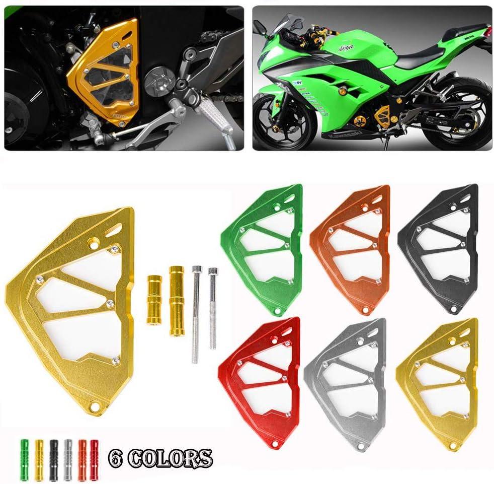 Ninja250 Ninja300 Ninja250R Accessories CNC Motorcycle Front Sprocket Chain Guard Cover Engine Slider for Kawasaki Ninja 250 250R 300 Ninja-250 Ninja-300 Ninja-250R 2013 2014 2015 2016 (Red)
