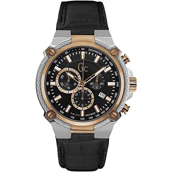 GC by Guess Reloj los Hombres Sport Chic Collection GC Cable Force Cronógrafo Y24005G2: Amazon.es: Relojes
