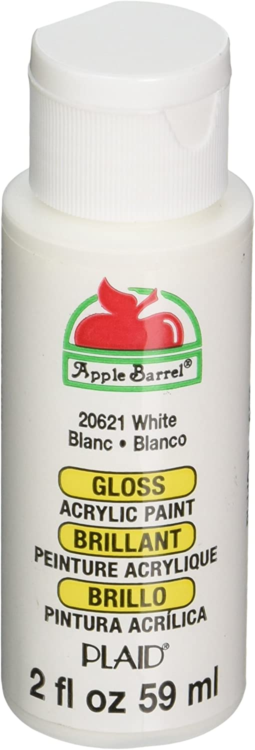 Apple Barrel Gloss Acrylic Paint in Assorted Colors (2-Ounce), 20621 White