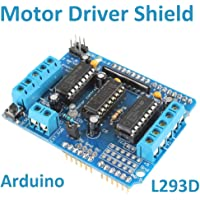 Robotekno, 78L1, Arduino Step Motor Sürücü L293D Servo DC Motor Driver Shield