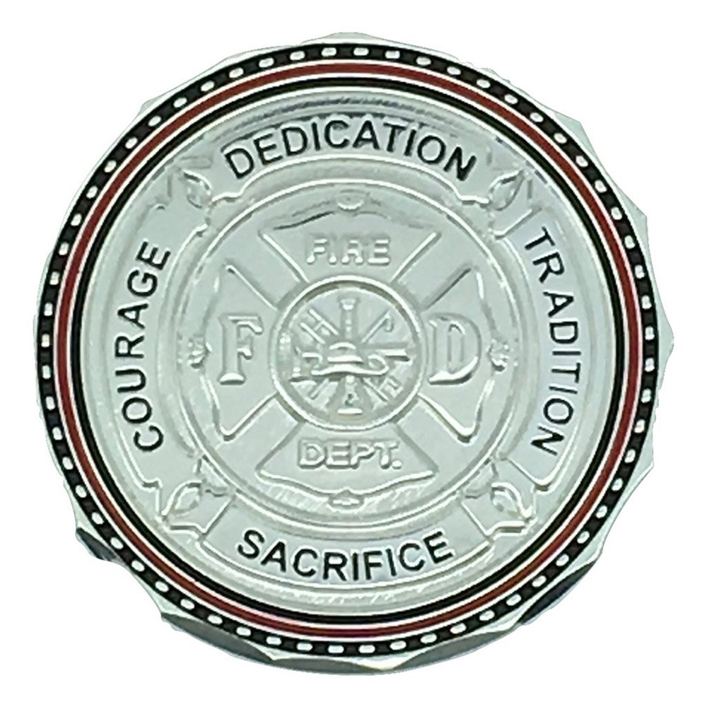 Maltese Cross Courage, Dedication, and Firefighter Prayer Coin-Pack of 12 Coins