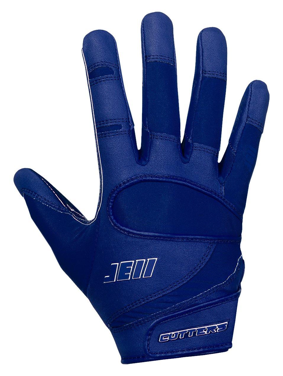 カッターJulian Edelmanフットボールグローブ、Extremeグリップ&受信機子供&大人サイズ手袋、柔軟、快適、耐久性、通気性、1ペア B07BMBBH8L ネイビー ADULT: Large ADULT: Large|ネイビー