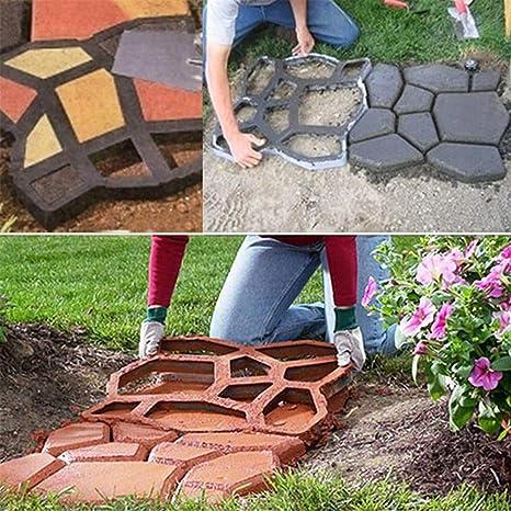 Molde de Concreto, DIY Molde de Pavimentación Reutilizable Pathmate Path Maker Molde de Losa para el Jardín Camino Pathway Patio: Amazon.es: Deportes y aire ...