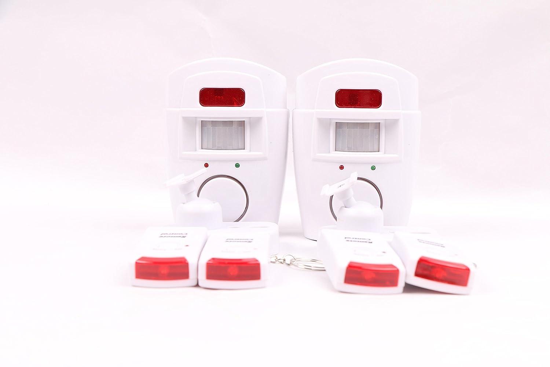 Alarma inalámbrica con sensor de movimiento, incluye 2 mandos a distancia, 2 ideal para el hogar, garaje o autocaravanas