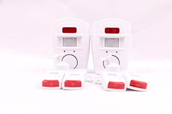 Alarma inalámbrica con sensor de movimiento, incluye 2 mandos a distancia, 2 ideal para el hogar, garaje o autocaravanas: Amazon.es: Bricolaje y ...