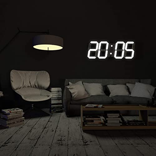 CO-Z Multi-Functional Remote Control Large 17.3 X 6.3 X 0.6 Inches LED Digital Wall Clock