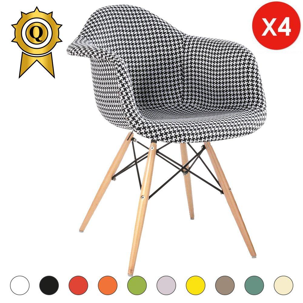 Mobistyl® DAWL-M4 - Juego de 4 sillas de diseño escandinavo ...
