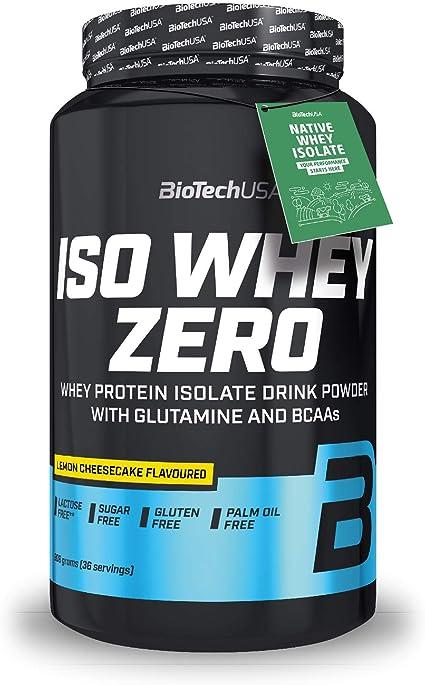 BioTechUSA Iso Whey ZERO, Lactose, Gluten, Sugar FREE, Whey Protein Isolate, 908 g, Lemon Cheesecake