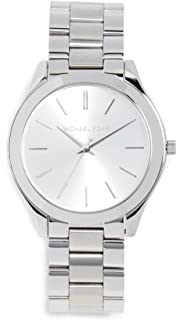 Michael Kors Womens 42mm Stainless Steel Slim Runway Bracelet Watch