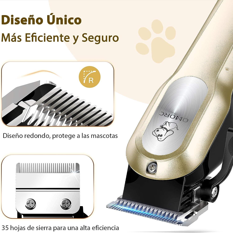 Macchina per toelettatura per cani e gatti kit professionale taglio di capelli regolabile gatti kit di manutenzione con rimuovi capelli OMORC smontabile silenzioso