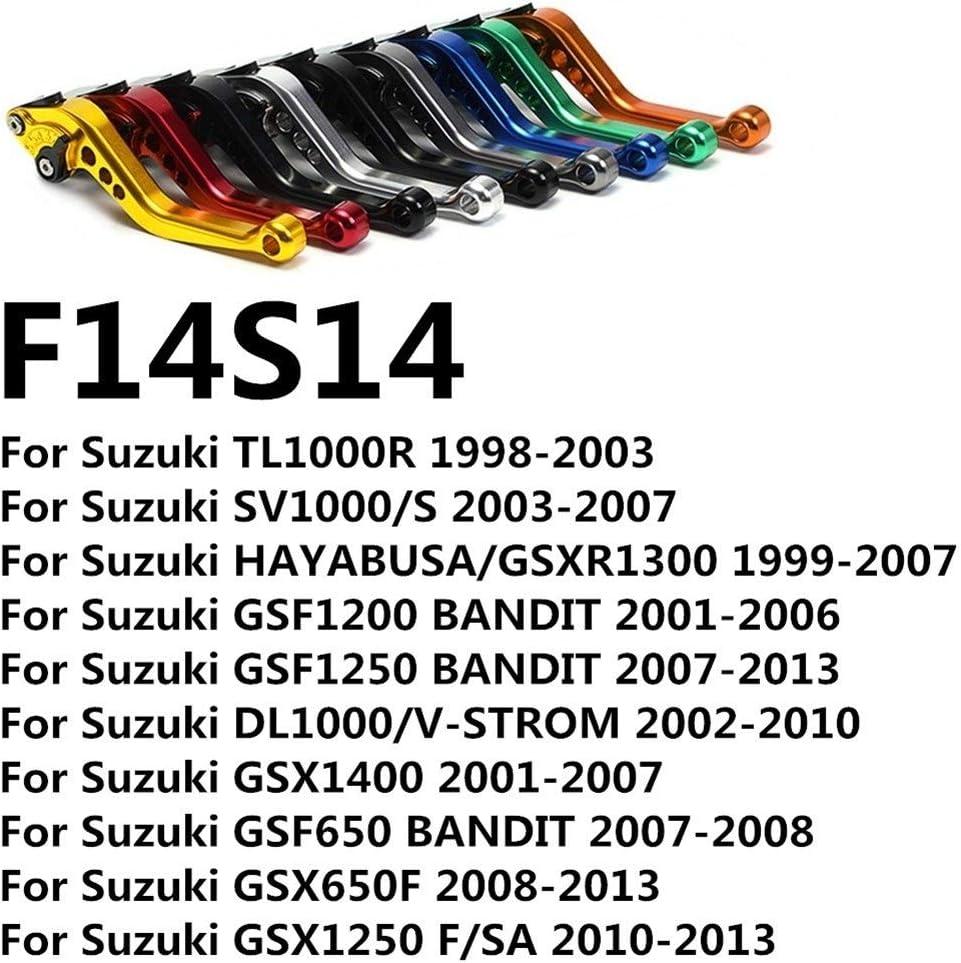 GSXR1300 GSX 650F 1250 F//SA 1400 GSF 650 1200 1250 CNC-Long /& ampShort Teller Bremskupplungshebel D25 Color : Long Adjuster Red Kupplungshebel Motorrad Fit for Suzuki Hayabusa