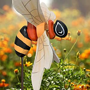 Whirligig Asuka Series Windmill, Flying Bird Garden Windmill Art, Kites Spinner, Bird Deterrent Lawn Decorations, Garden Spinner with Stable Wood Pile, Birthday Gift Mother's Day Garden Decoration (G)