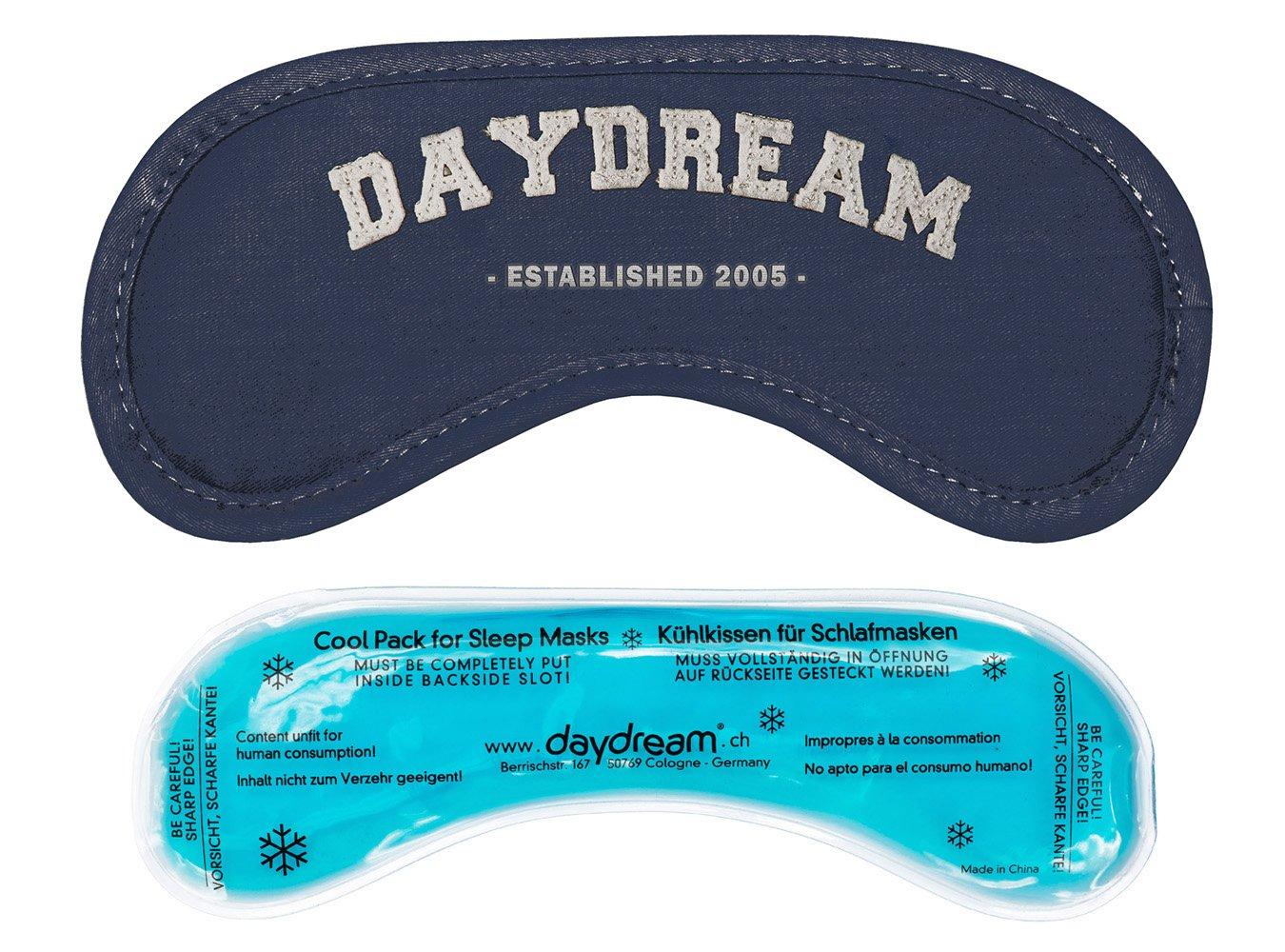 Daydream B-1002-K - Antifaz con relleno de gel refrescante, color negro