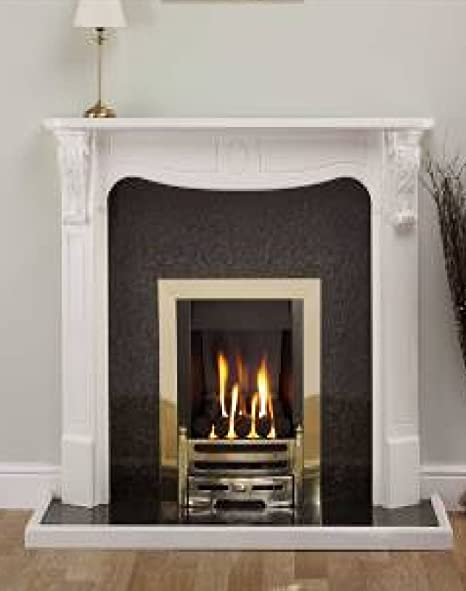 Stupendous White Painted Electric Gas Or Solid Fuel Wooden Fireplace Download Free Architecture Designs Meptaeticmadebymaigaardcom