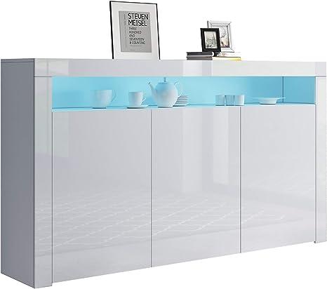 Modern Sideboard Anrichte Esszimmer Buffet Schrank Kommode Schublade Tür RGB LED