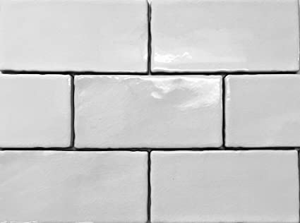 X Subway White Crackled Ceramic Subway Tile Backsplash Amazoncom - Best place to buy subway tile