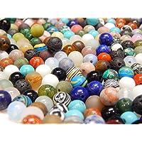 Piedras Preciosas Mixtas Perlas Redondas Set de Lava, Cuarzo, aventurina, amazonita, Amatista, Jade, Piedra de Luna…