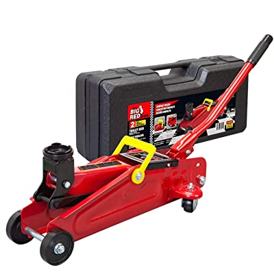 BIG RED T820014S Torin Hydraulic Trolley Service/Floor Jack with Blow Mold Carrying Storage Case, 2 Ton (4,000 lb) Capacity: Automotive