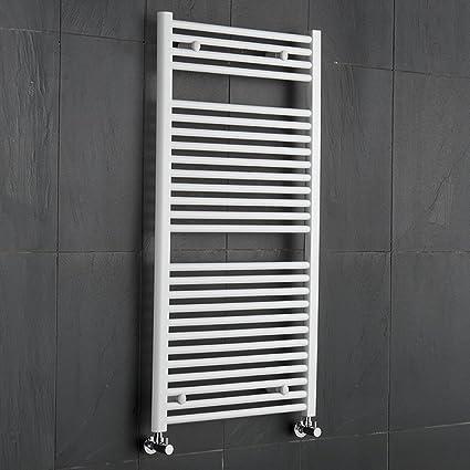 Hudson Reed - Radiador Toallero Plano en Acero Blanco Para Baño / Cocina - 1200 x