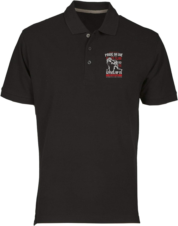 T-Shirtshock Polo por Hombre Negro EPS1008 Pride OR Die