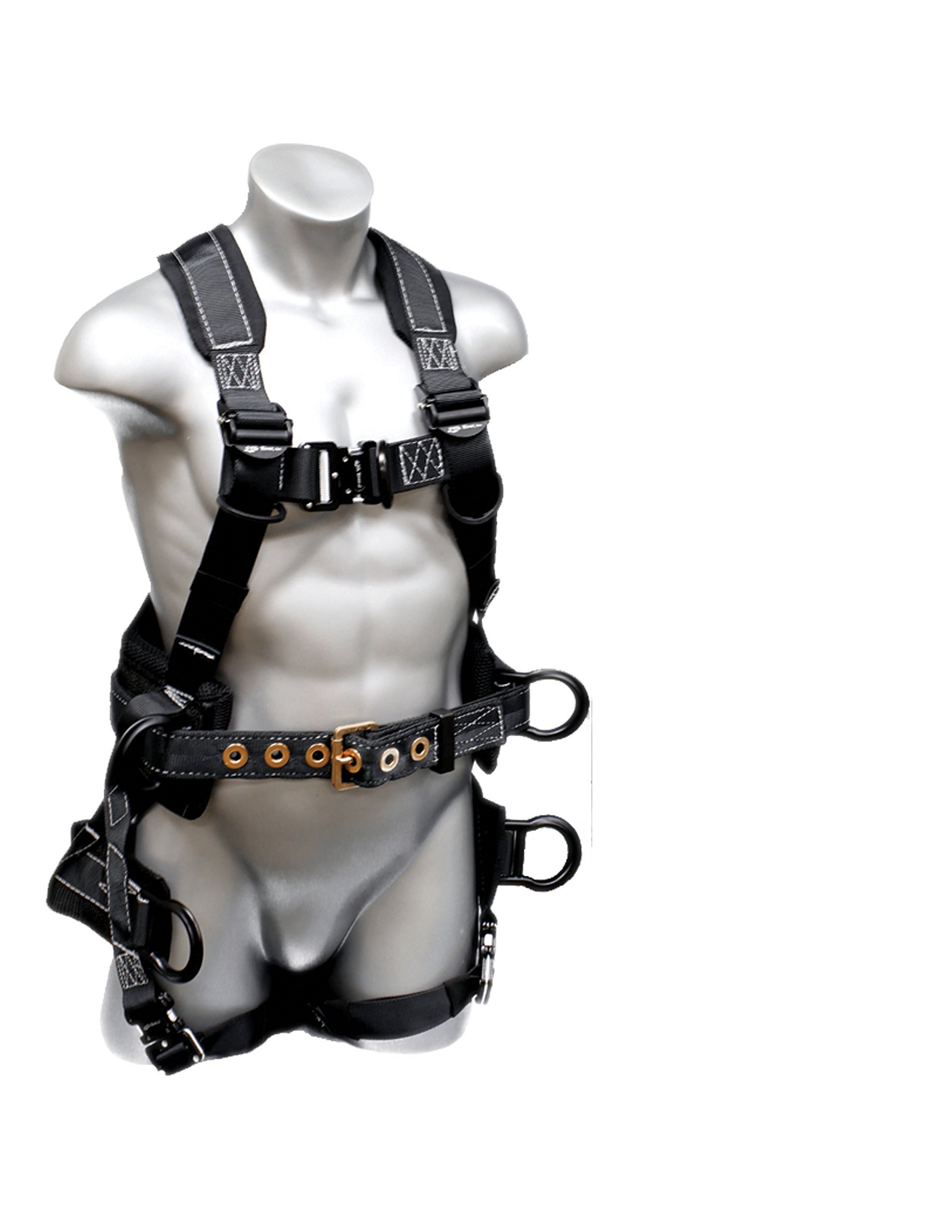 Elk River 67603 Polyester/Nylon Peregrine Platinum Series 6 D-Ring Harness with Quick-Connect Buckles, Large