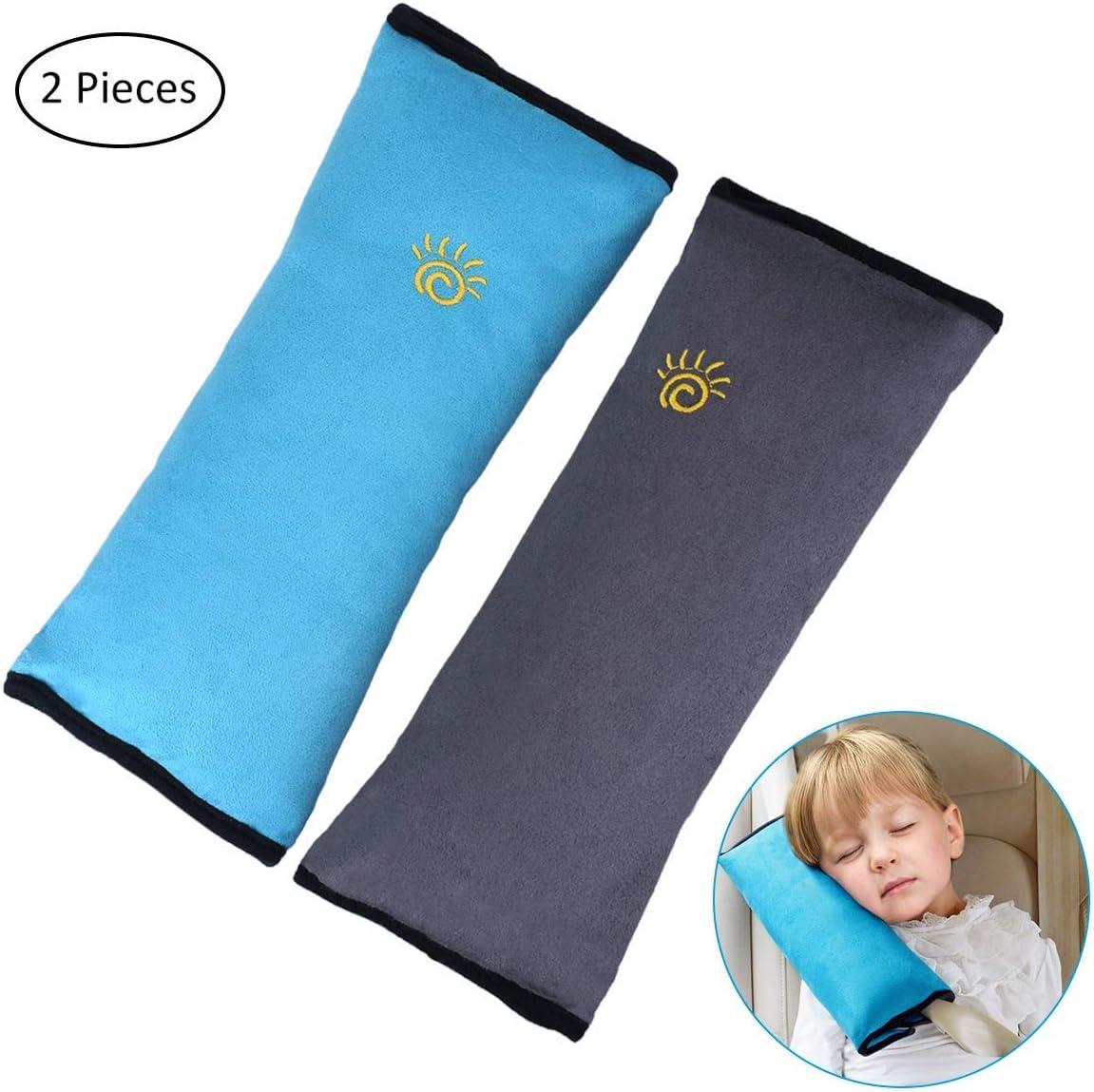 almohadilla de protector de seguridad Ecloud Shop/® Almohada de cintur/ón de seguridad soporte para el cuello del reposacabezas fundas de asiento de coche para ni/ños