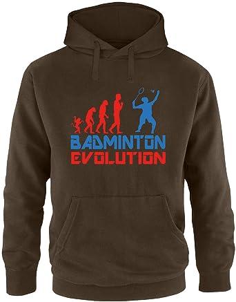 EZYshirt® Badminton Evolution Herren Hoodie