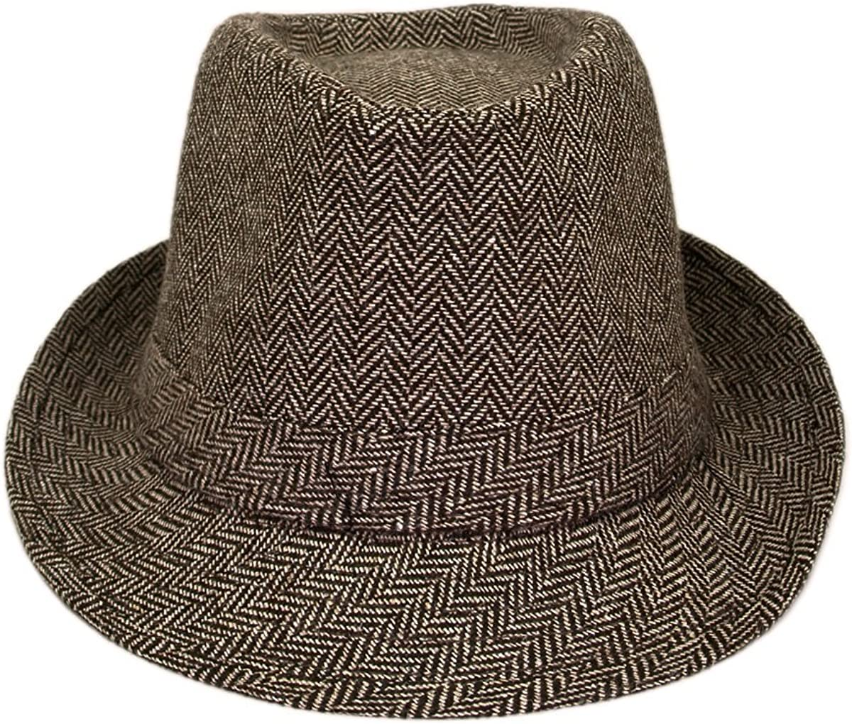 Different Colors Available Premium Chevron Zig Zag Fedora Hat