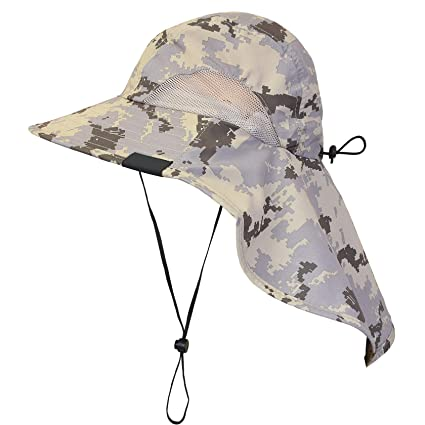 eee90dff63659 Amazon.com   Tirrinia Unisex Outdoor Sun Protection Fishing Cap ...