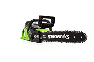 Greenworks 14-Inch 40V Cordless Chainsaw, Battery and Charger Not Included CS40L01