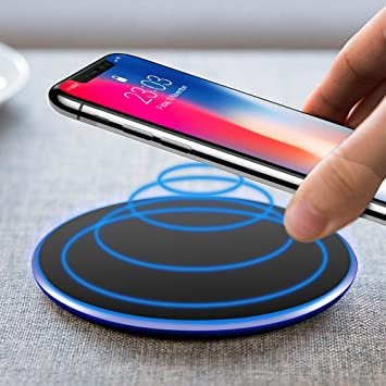 Cargador Inalámbrico,UBEGOOD Wireless Charger Qi Quick Charger Wireless Carga Rápida para iPhone X/8/8 plus, Samsung Galaxy S8/S8 Plus/Note 8/S7 Edge, ...