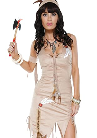Naughty Native Sexy Indian Costume Beige L/XL  sc 1 st  Amazon.com & Amazon.com: Naughty Native Sexy Indian Costume Beige L/XL: Adult ...