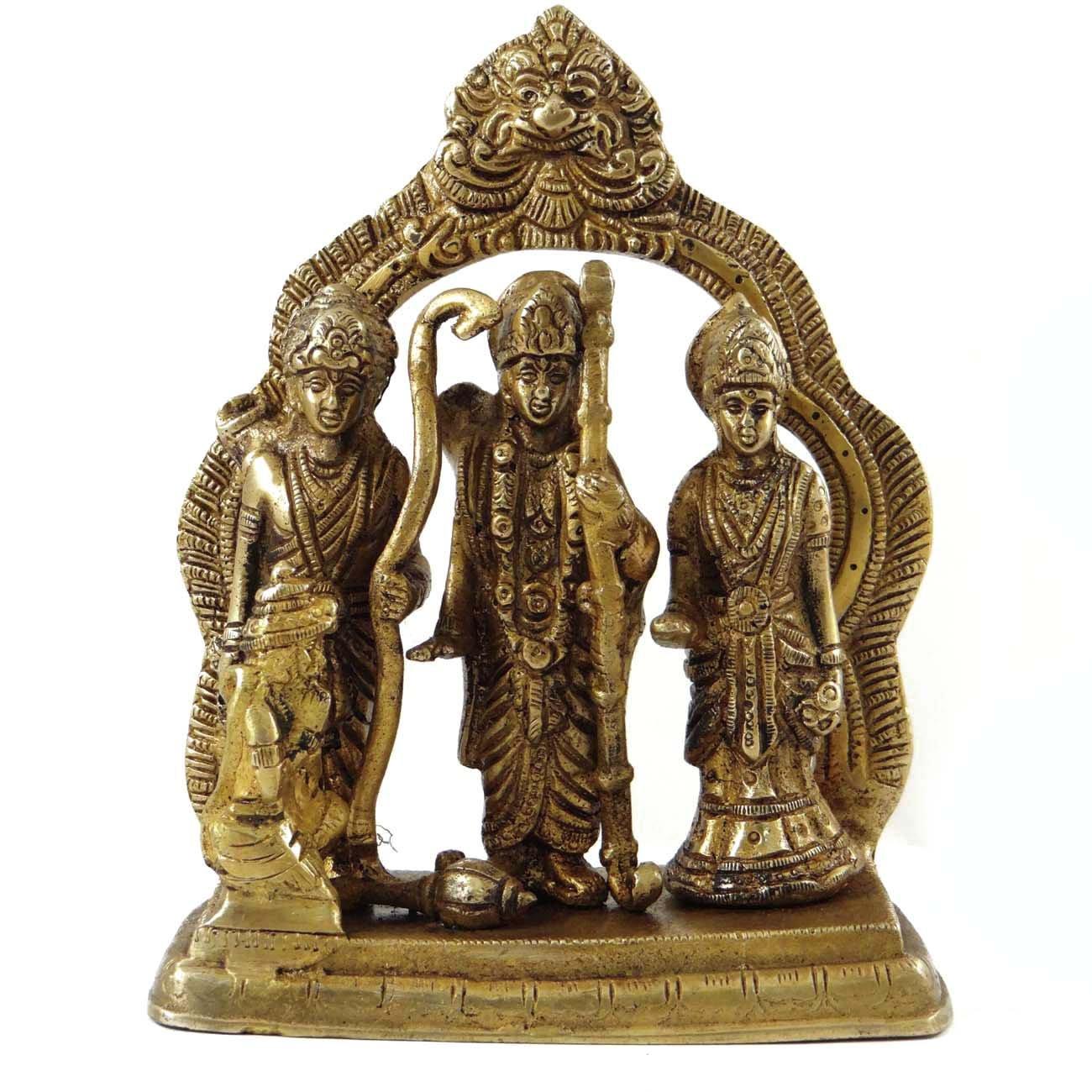 Religious Ram Darbar真鍮メタル図従来StatueホームD Cor Sculpture B0725C437N