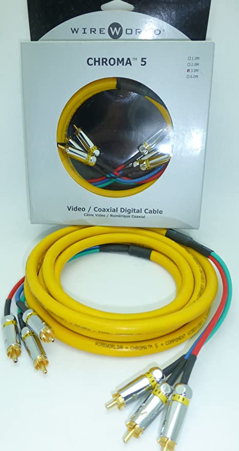 Wireworld Chroma 5 3 meter Component video cable
