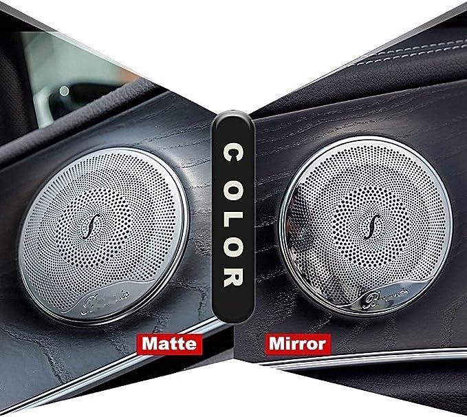 Xhsm Interior Für Benz Amg C E Klasse W205 W213 Glc Car Styling 4pcs Auto Tür Audio Lautsprecher Dekor Abdeckung Lautsprecher 3d Trim Aufkleber Dekorative Abdeckung Color Matte Silver Auto