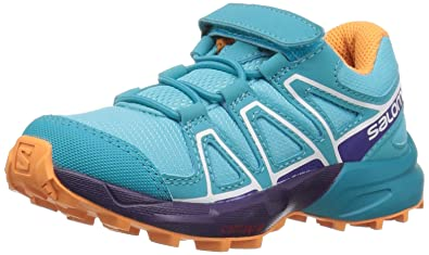 Salomon Speedcross Bungee K, Chaussures de Trail Mixte Enfant, Bleu (Ombre Blue/Sulphur Spring/Nautical 000), 30 EU